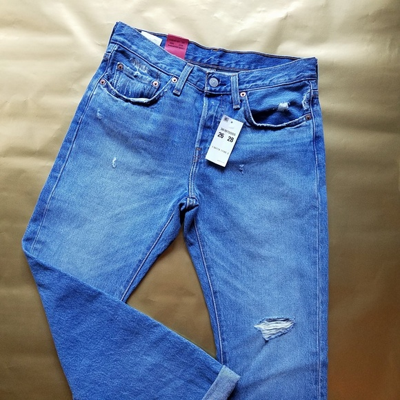 e086104e355 Levi s 501 Taper Fit Distressed Jeans